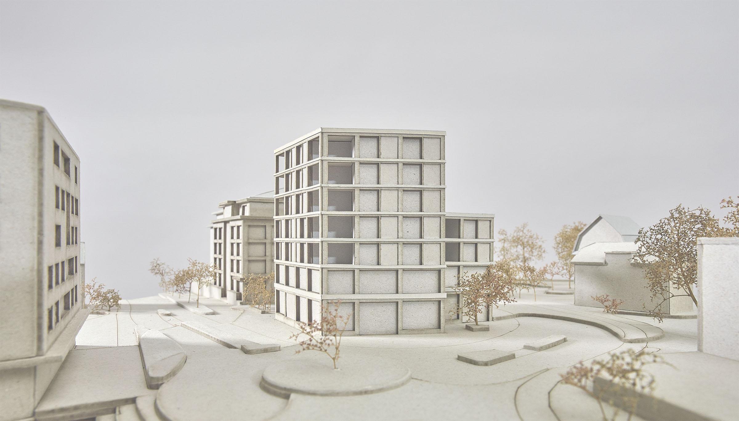 buan architekten - Projektwettbewerb am Kanzlei-Kreisel Emmenbrücke - Modell