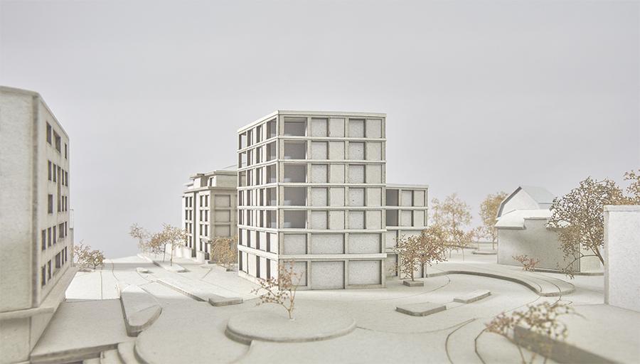 buan architekten – Studienauftrag Kanzlei-Kreisel Emmenbrücke – Visualisierung