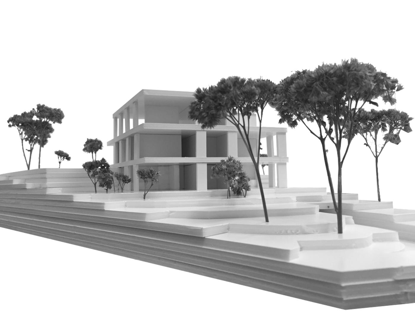 buan architekten – Wohnhaus Nelkenstrasse Emmen – Personenperspektive Modell