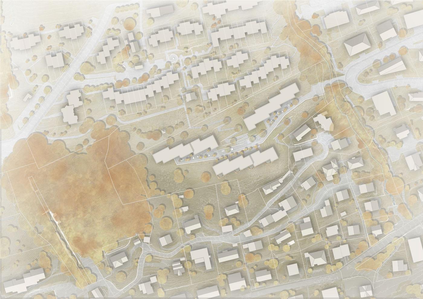 buan architekten – Projektwettbewerb Weinhalde Kriens – Situation
