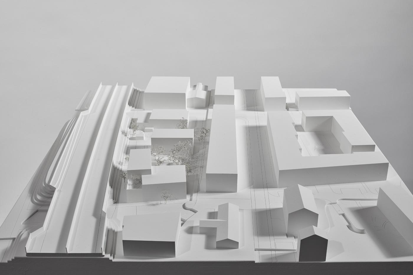 buan architekten – Studienauftrag Wohnheim Lindenfeld Emmen – Modellfoto