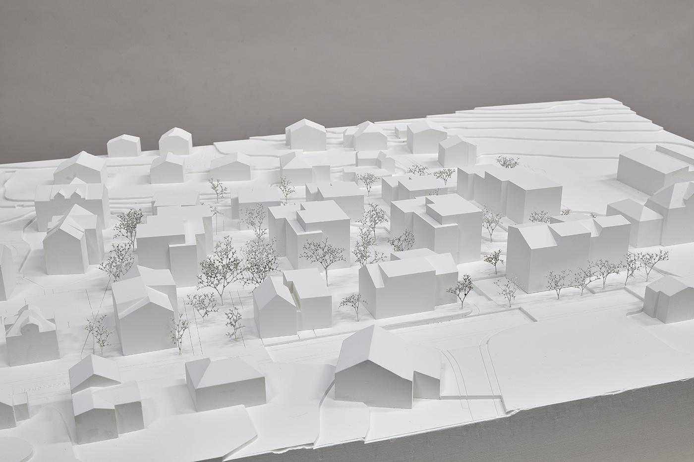 buan architekten – Studienauftrag Areal Schuetzenmatt Inwil – Modell – 1