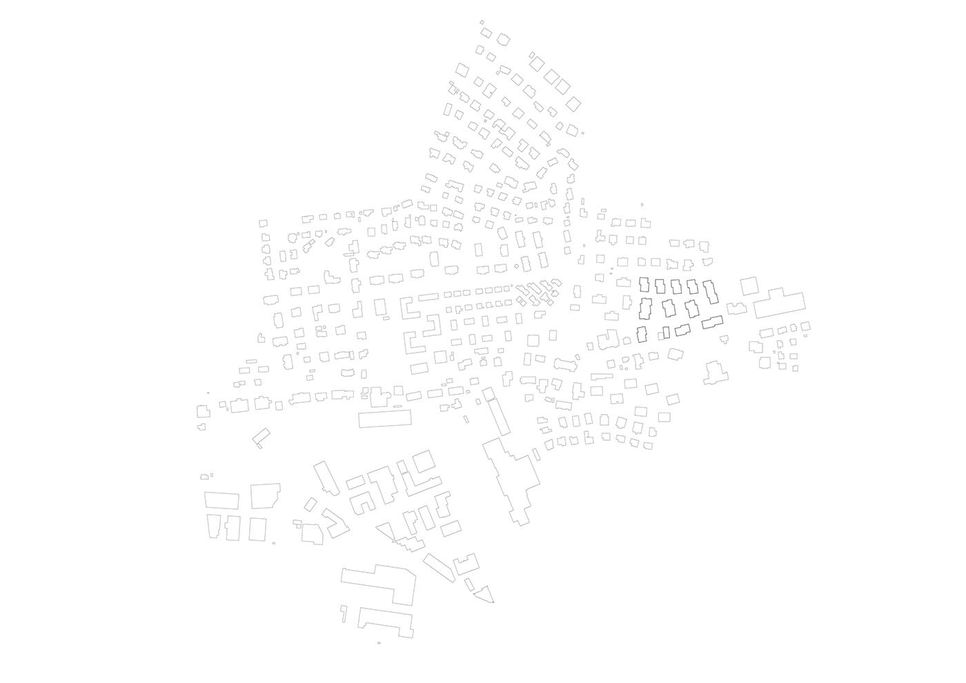 buan architekten – Studienauftrag Areal Schuetzenmatt Inwil – Schwarzplan