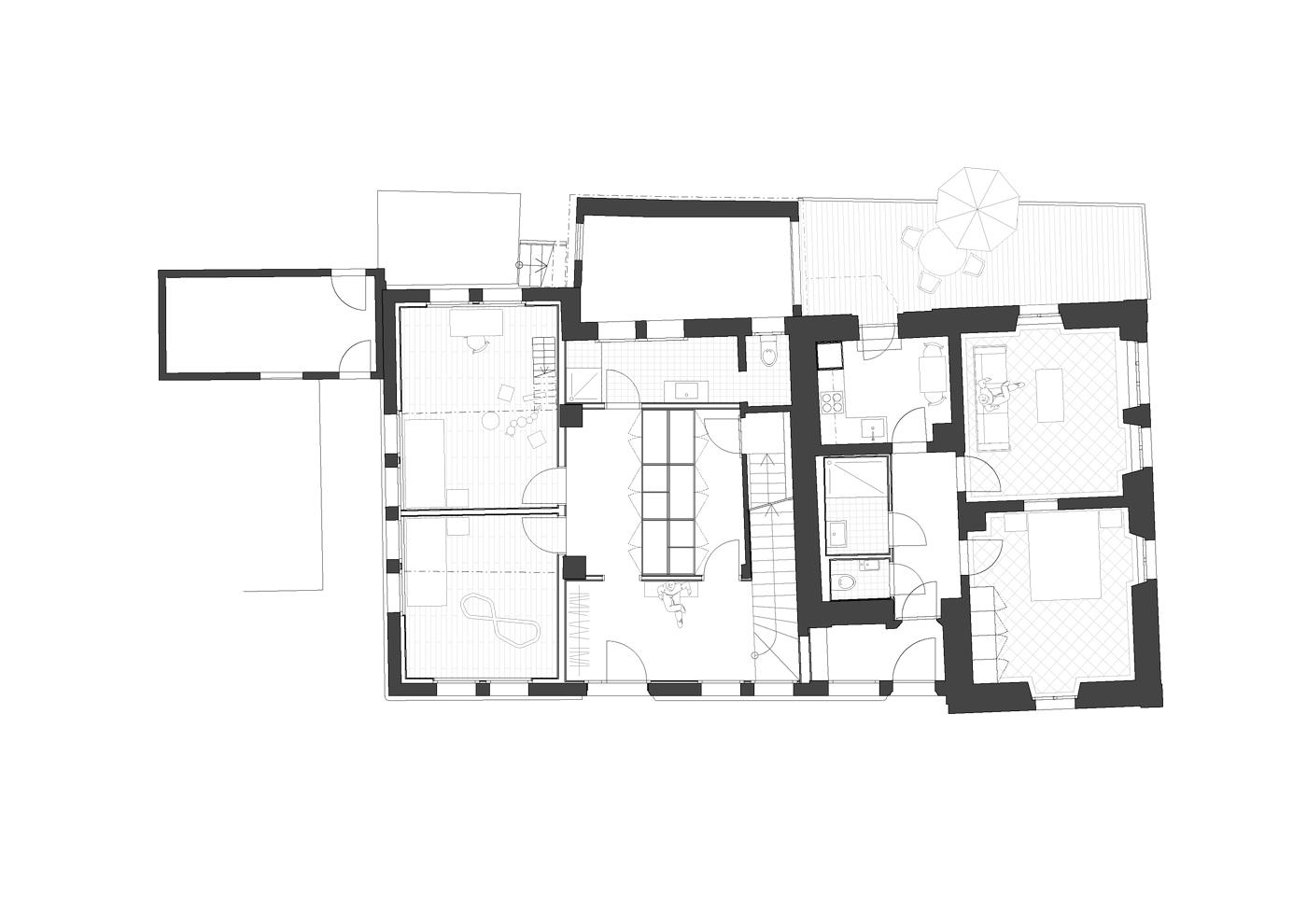 buan architekten – Umbau Bernstrasse Luzern – Grundriss Erdgeschoss