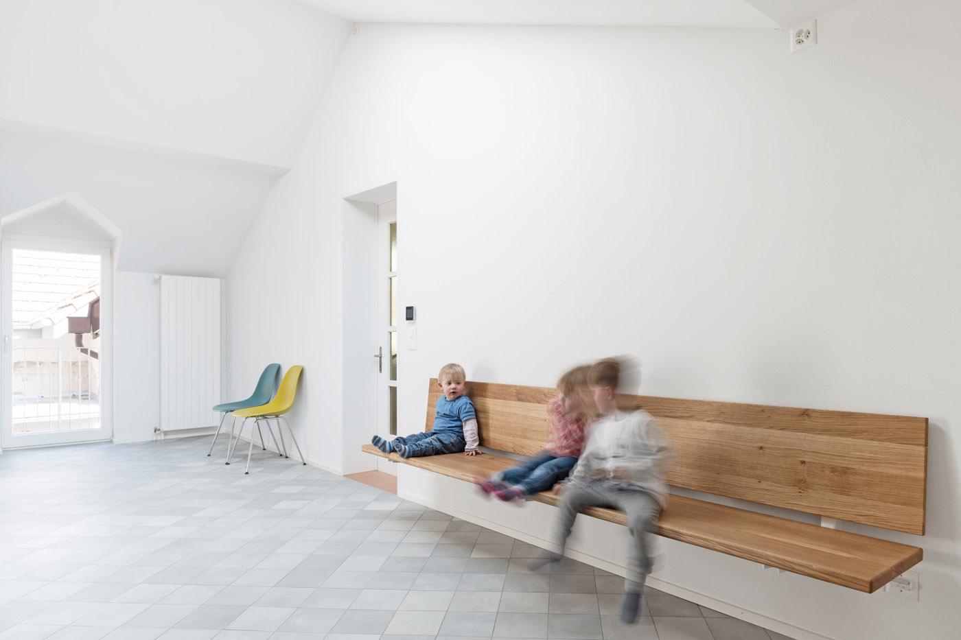 buan architekten – Umbau Bernstrasse Luzern – Innenansicht Wohnküche