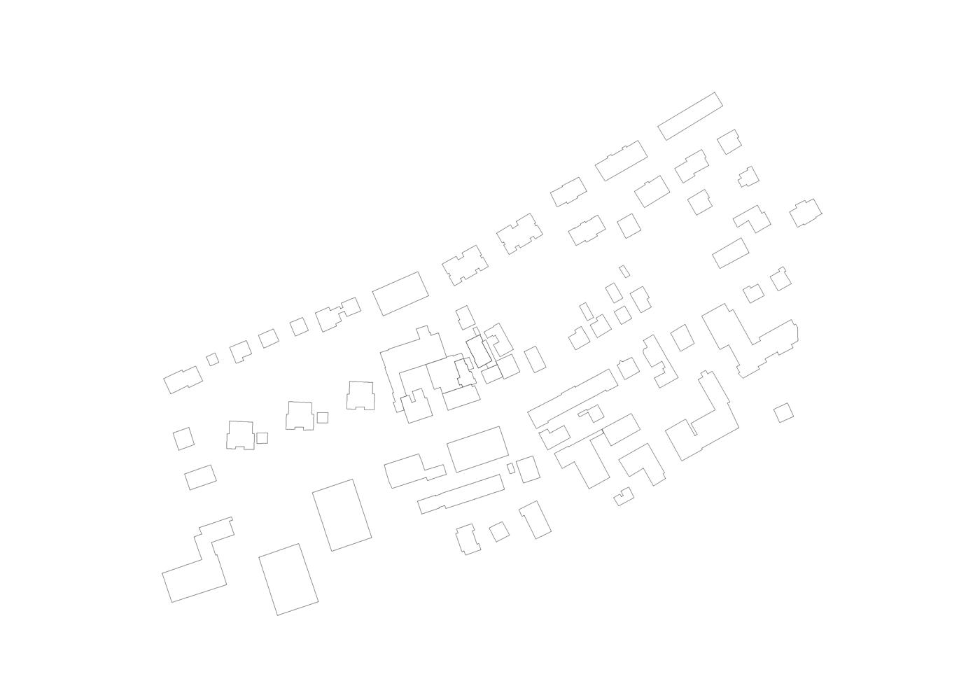 buan architekten – Umbau Bernstrasse Luzern – Schwarzplan