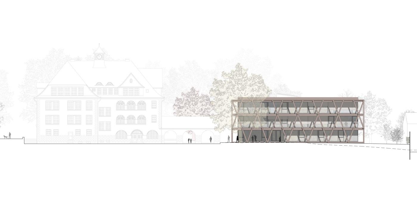 buan-architekten-ersatzneubau schulhaus zentrum-diessenhofen-ansicht-nord