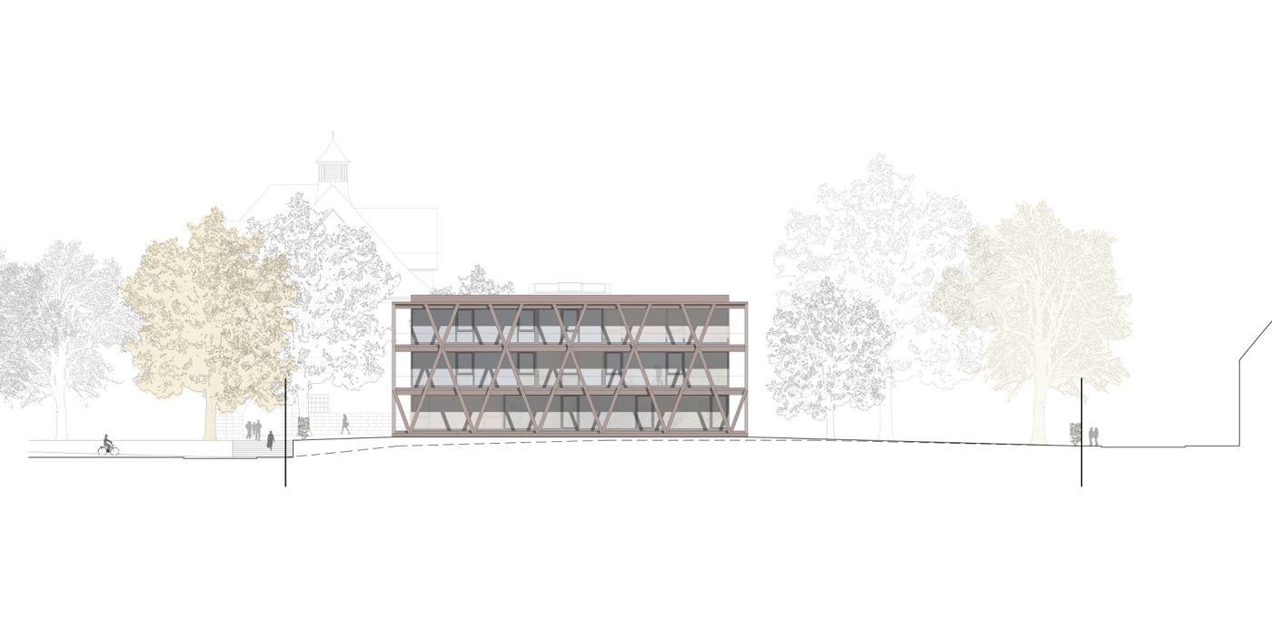buan-architekten-ersatzneubau schulhaus zentrum-diessenhofen-ansicht-west