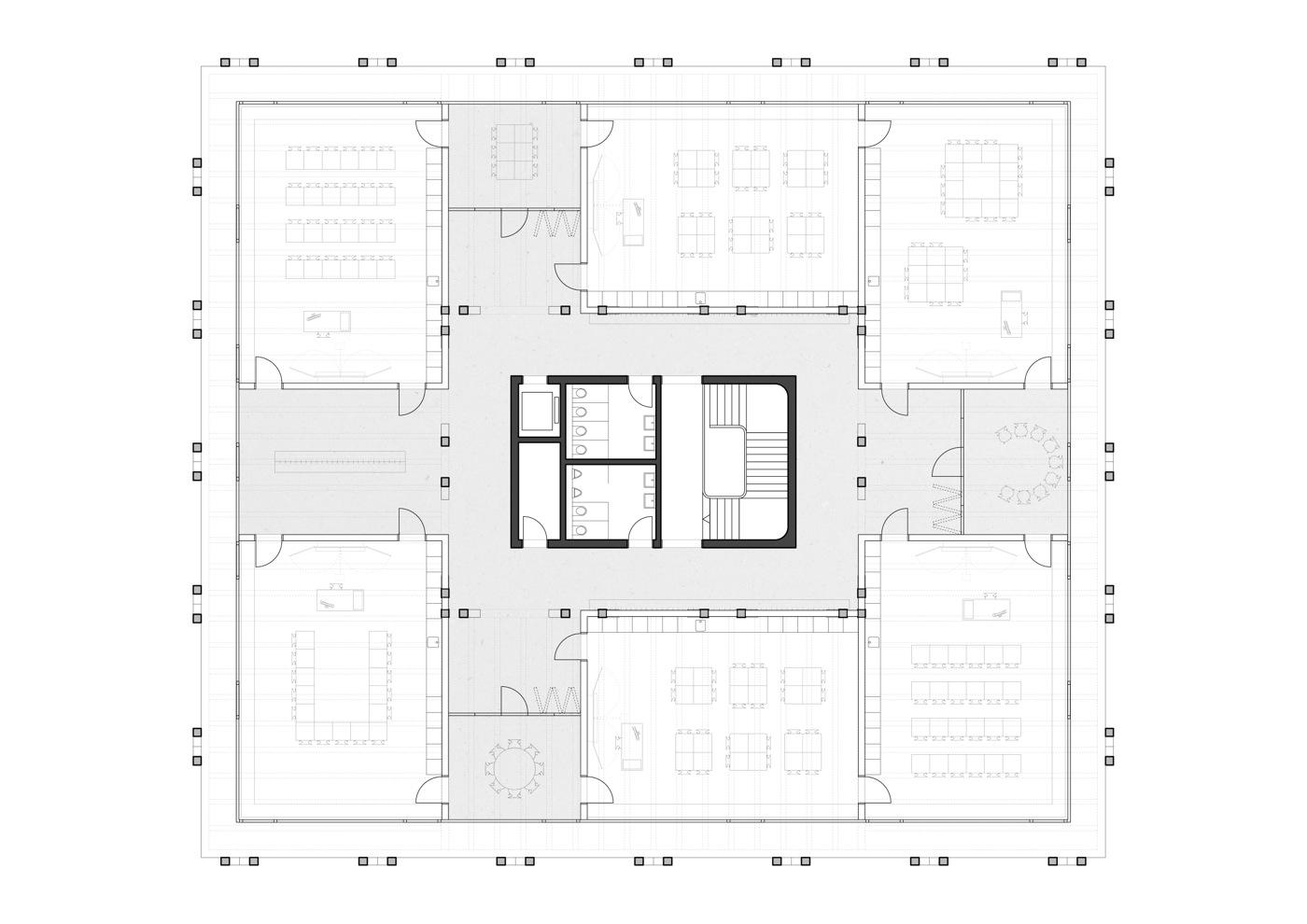 buan-architekten-ersatzneubau schulhaus zentrum-diessenhofen-grundriss-dachgeschoss