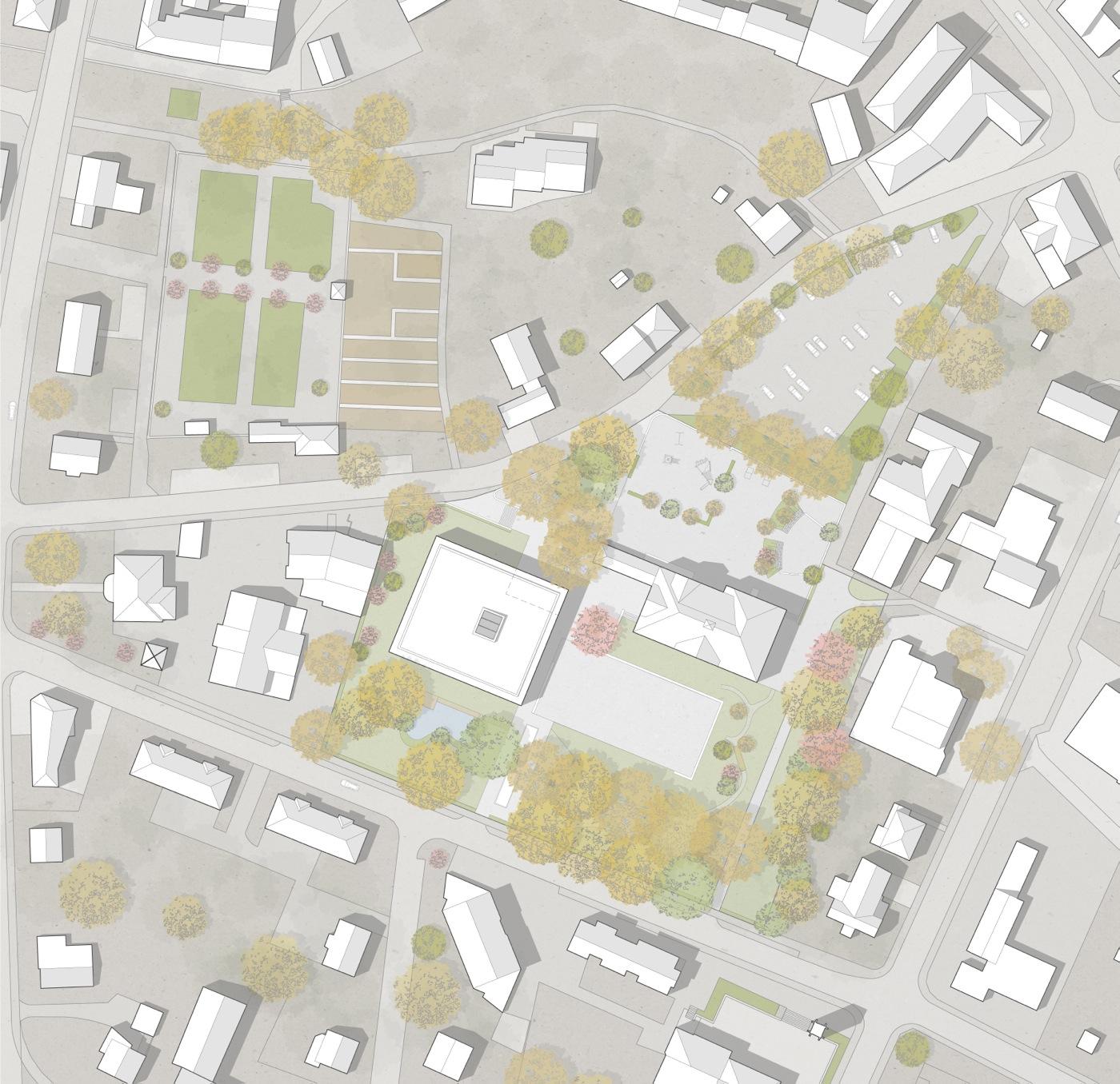 buan-architekten-ersatzneubau schulhaus zentrum-diessenhofen-situation