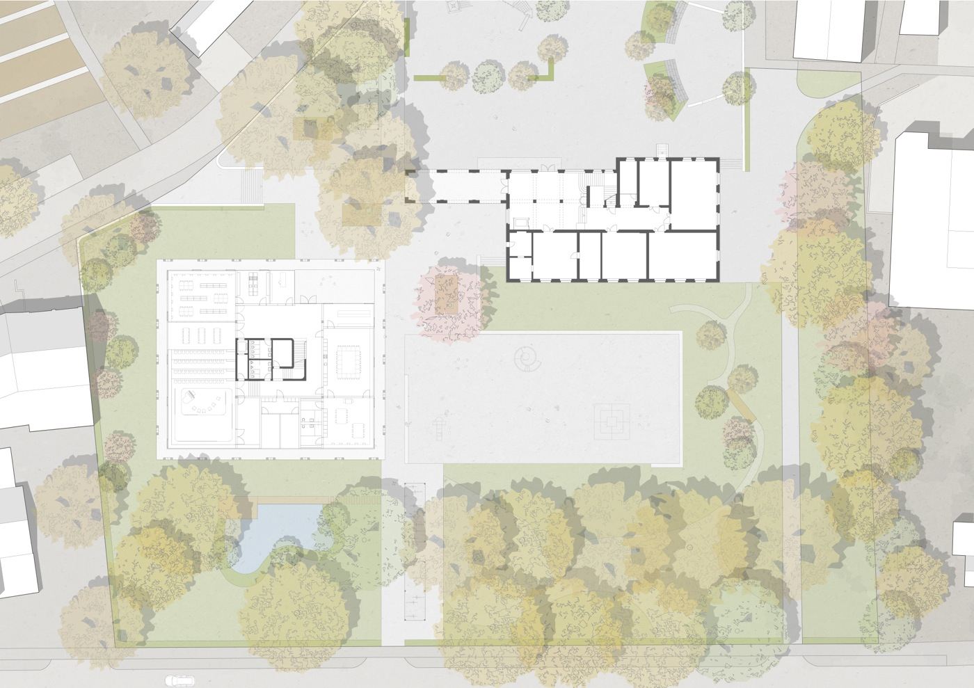 buan-architekten-ersatzneubau schulhaus zentrum-diessenhofen-umgebungsgestaltung