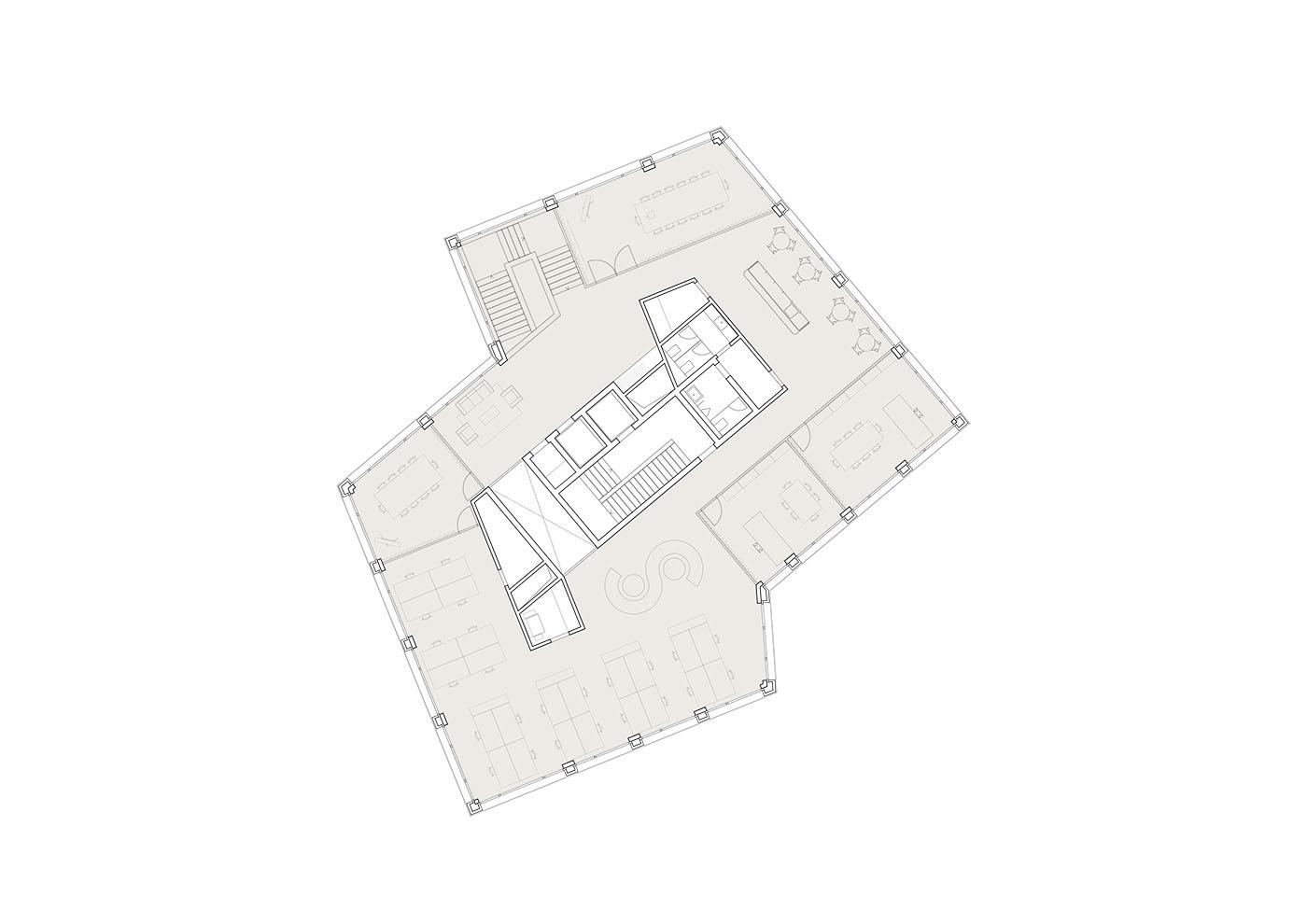 buan architekten – Studienauftrag Kanzlei-Kreisel Emmenbrücke – 1.Obergeschoss