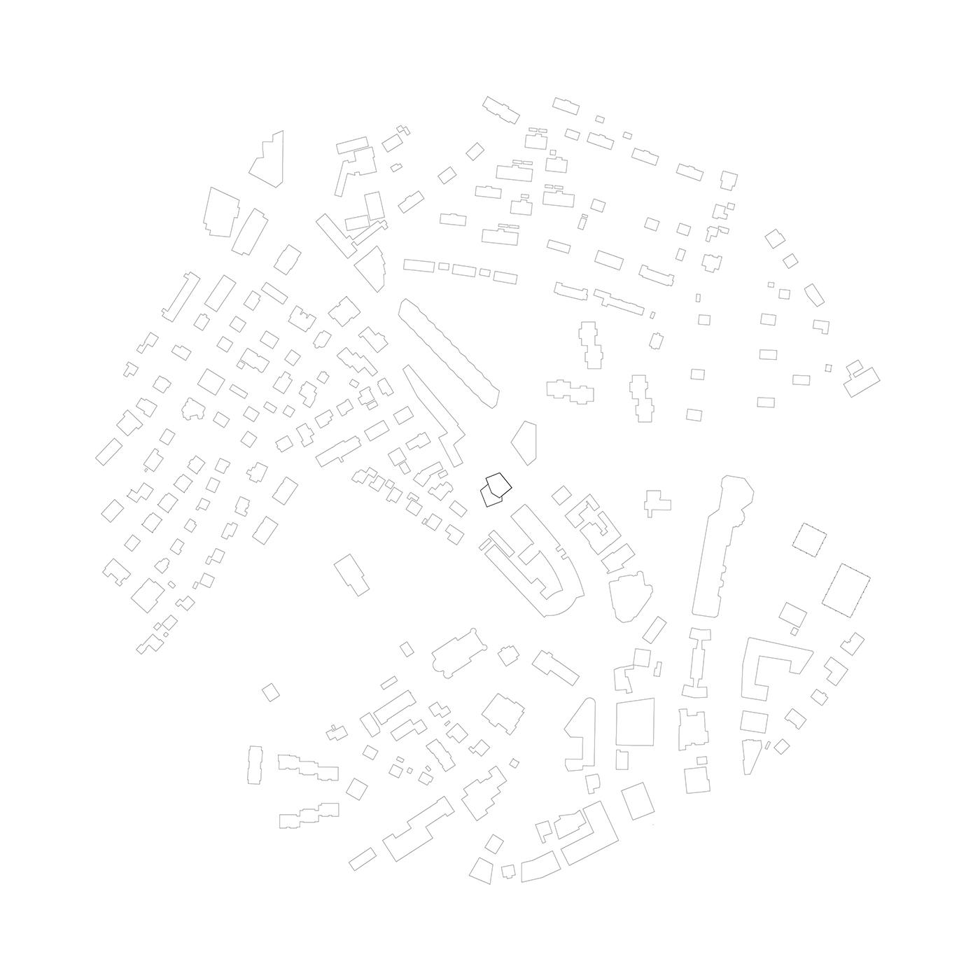 buan architekten – Studienauftrag Kanzlei-Kreisel Emmenbrücke – Schwarzplan