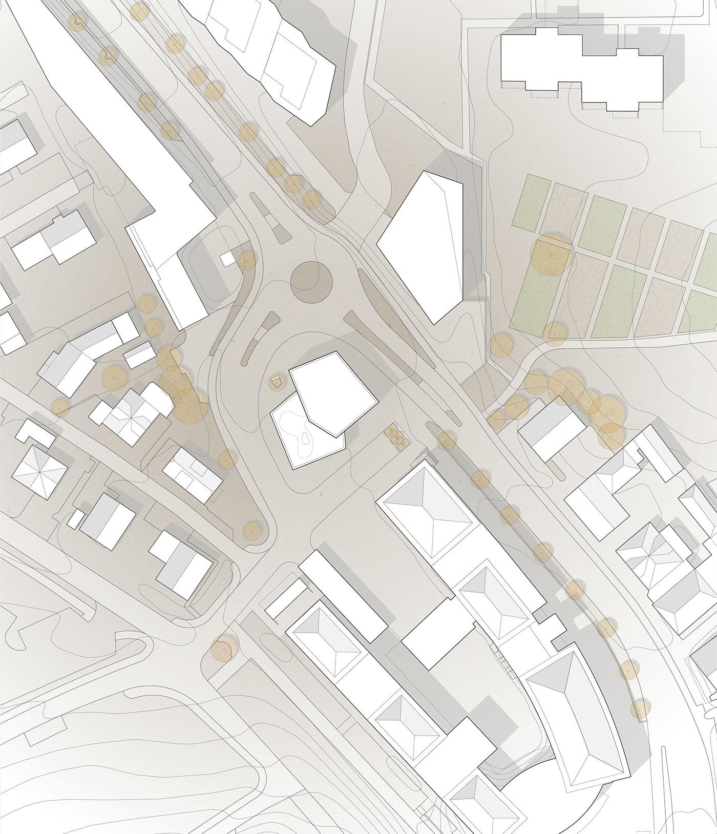 buan architekten – Studienauftrag Kanzlei-Kreisel Emmenbrücke – Situation