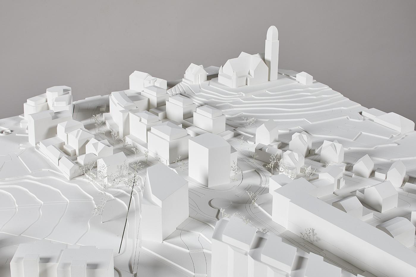 buan architekten – Studienauftrag Kanzlei-Kreisel Emmenbrücke – Situationsmodell 2