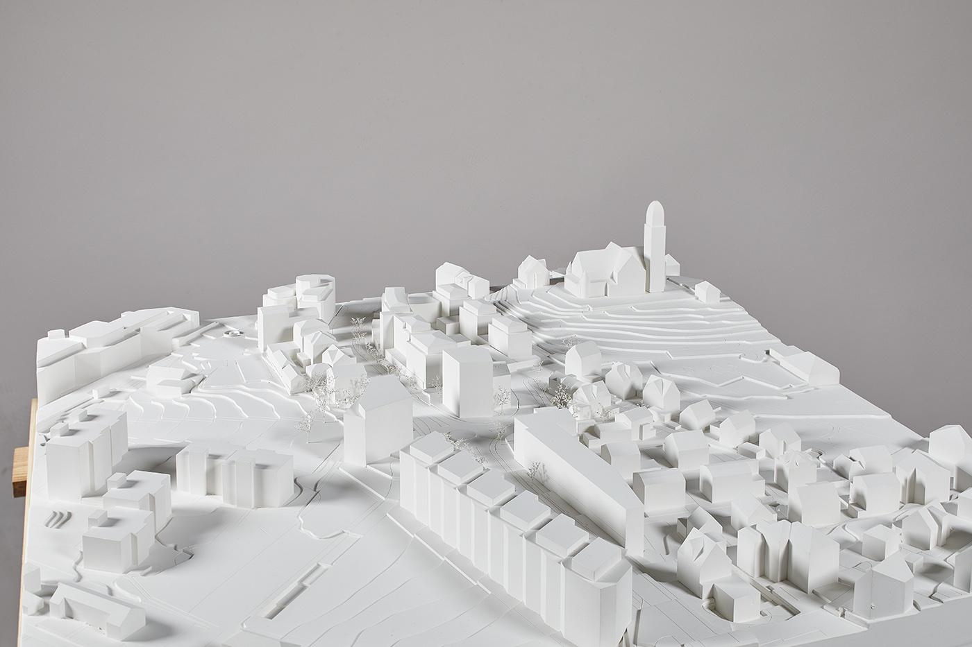 buan architekten – Studienauftrag Kanzlei-Kreisel Emmenbrücke – Situationsmodell 1