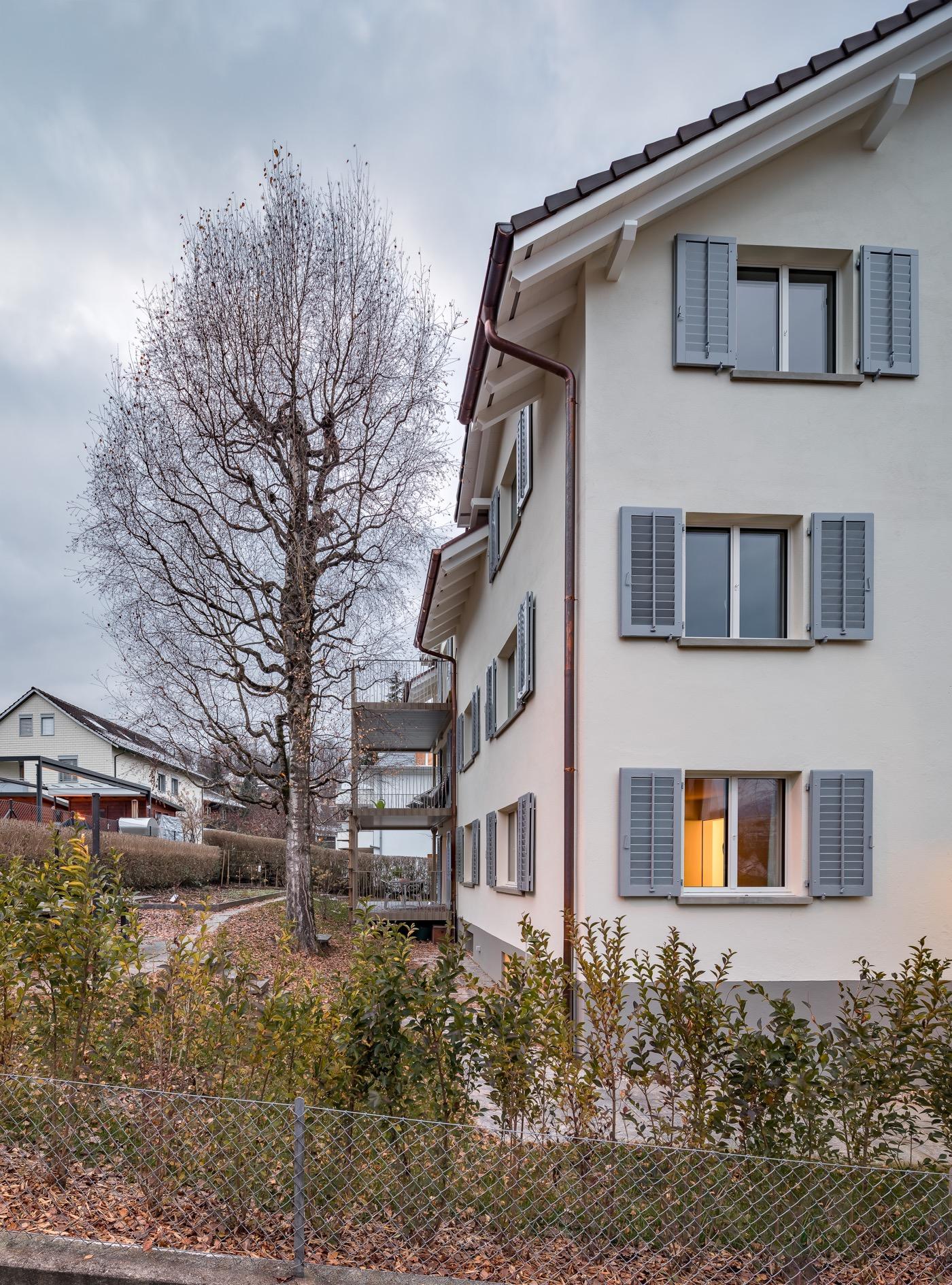 buan architekten – Wohnhaus Langensandstrasse Luzern – Aussen – 2