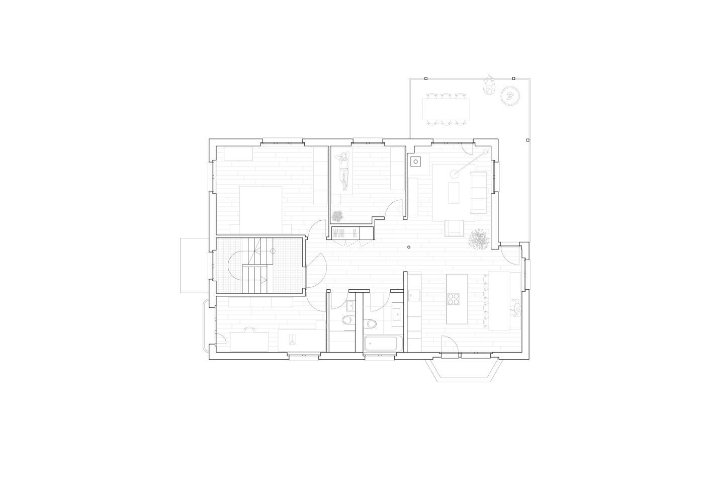 buan architekten – Wohnhaus Langensandstrasse Luzern – Grundriss