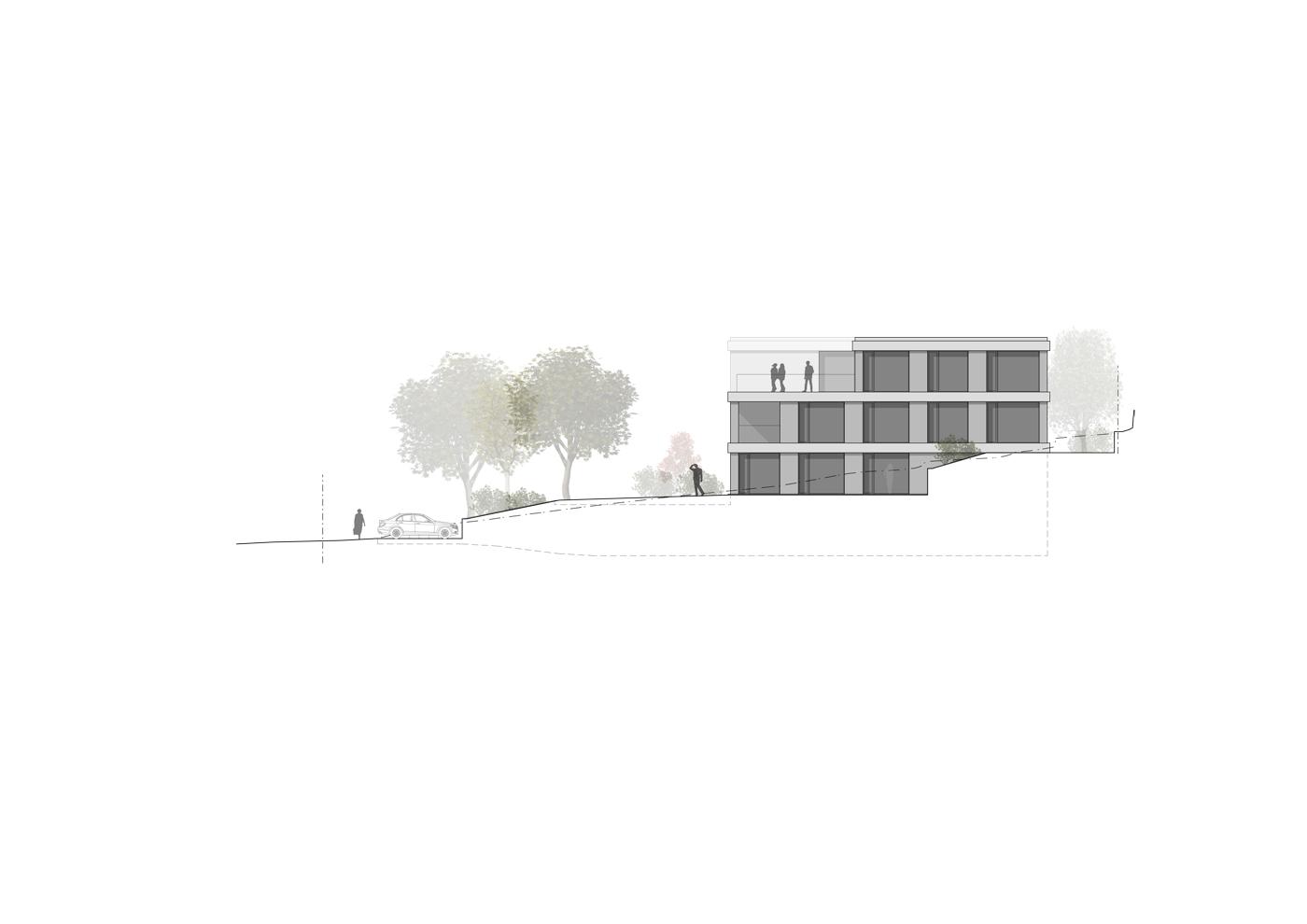 buan architekten – Wohnhaus Nelkenstrasse Emmen – Ansicht Nordost
