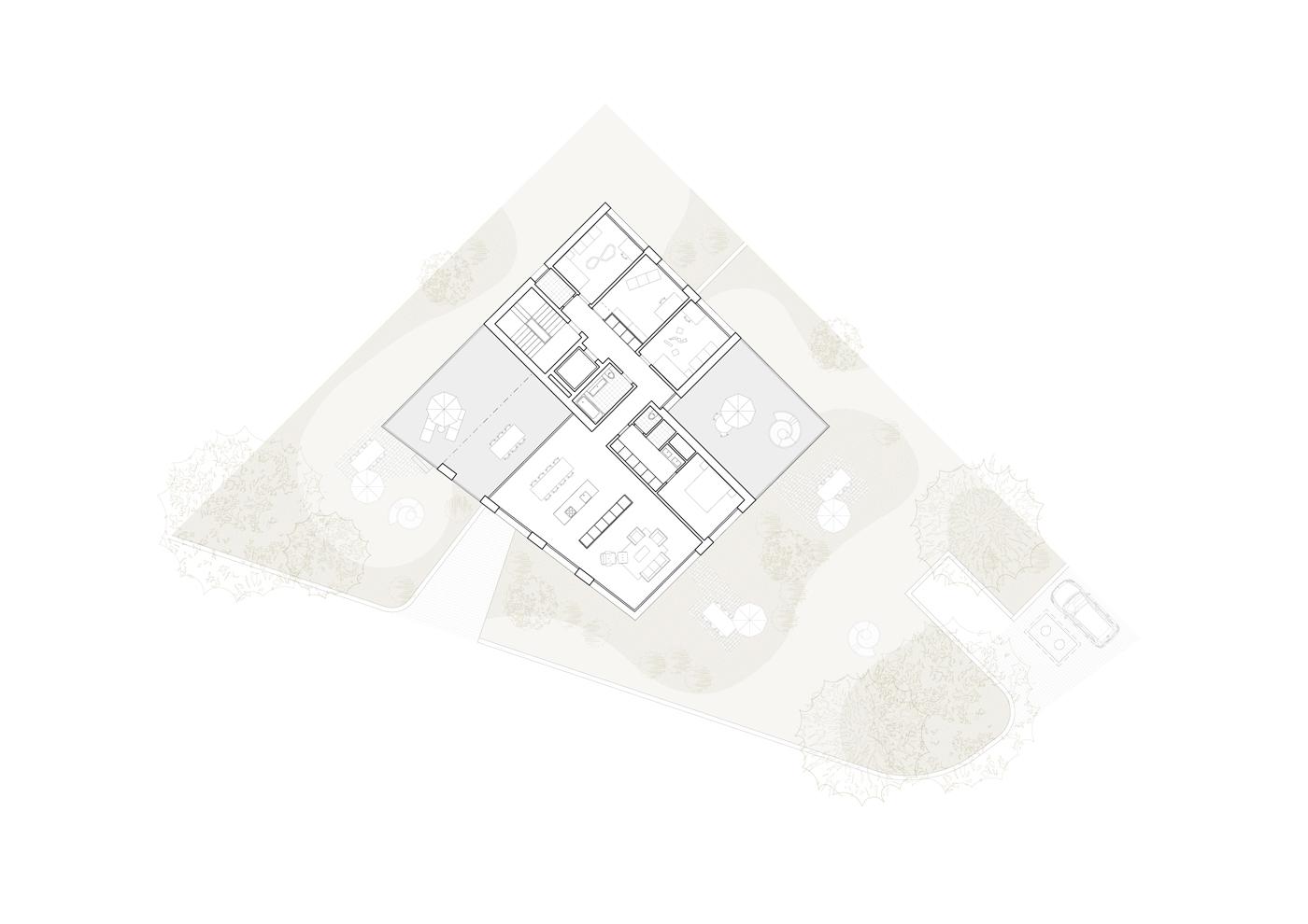 buan architekten – Wohnhaus Nelkenstrasse Emmen – Grundriss Attikageschoss