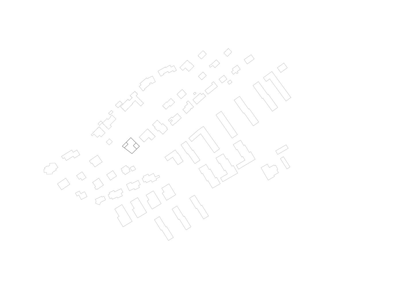 buan architekten – Wohnhaus Nelkenstrasse Emmen – Schwarzplan