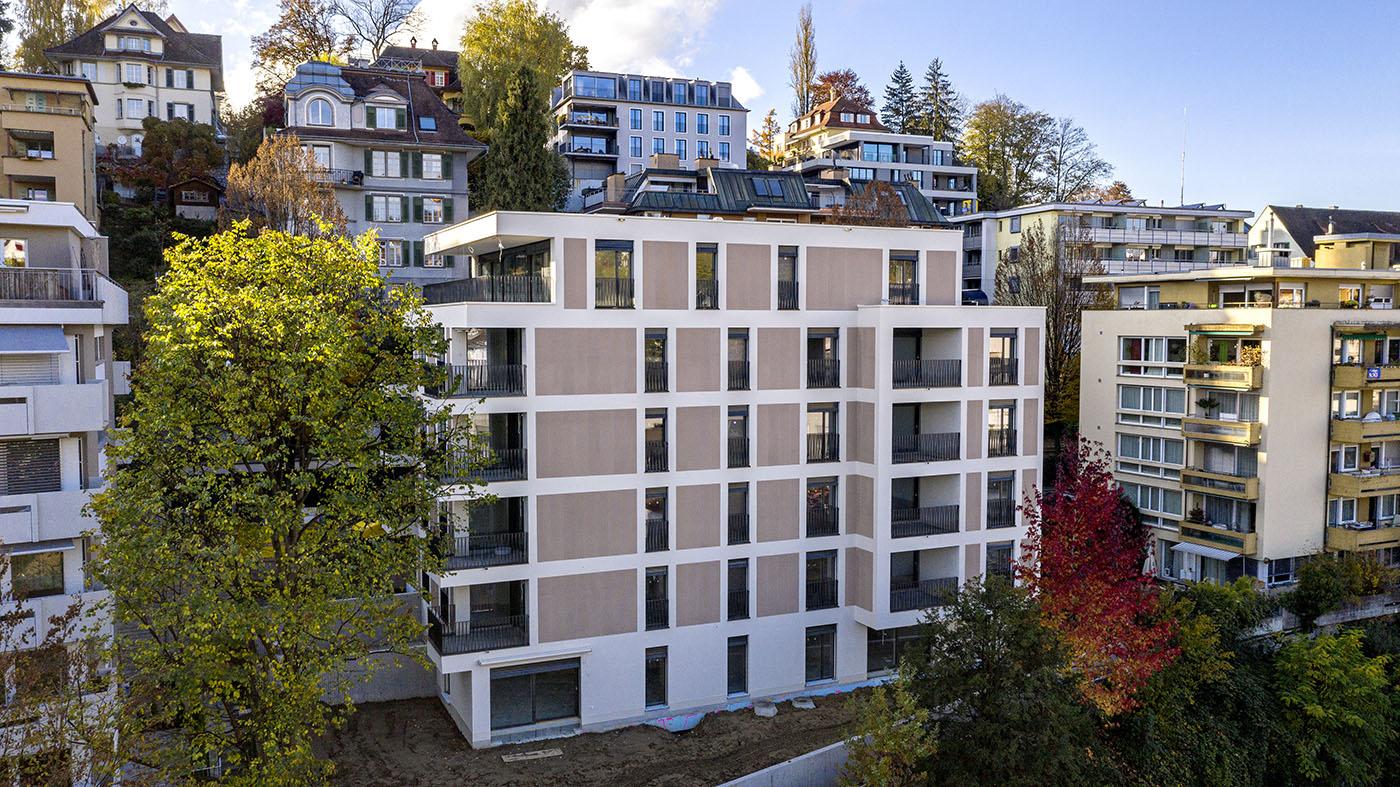 buan architekten – Neubau Wohnhaus Fluhmattstrasse Luzern – Foto realisiert