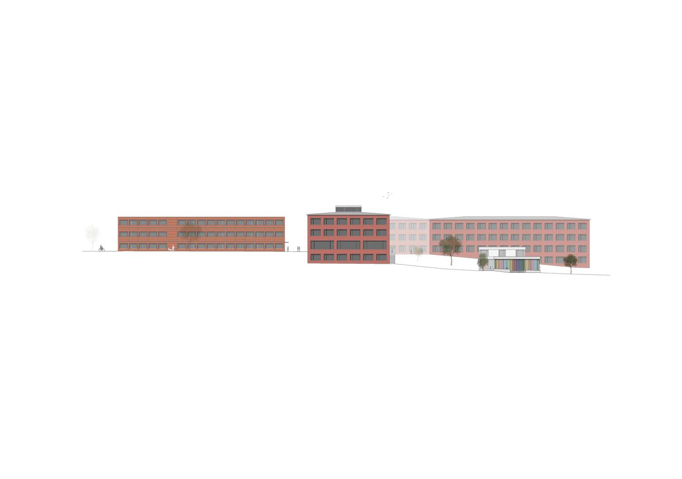 buan architekten – Schulanlage Erlen Emmenbrücke – Gesamtansicht