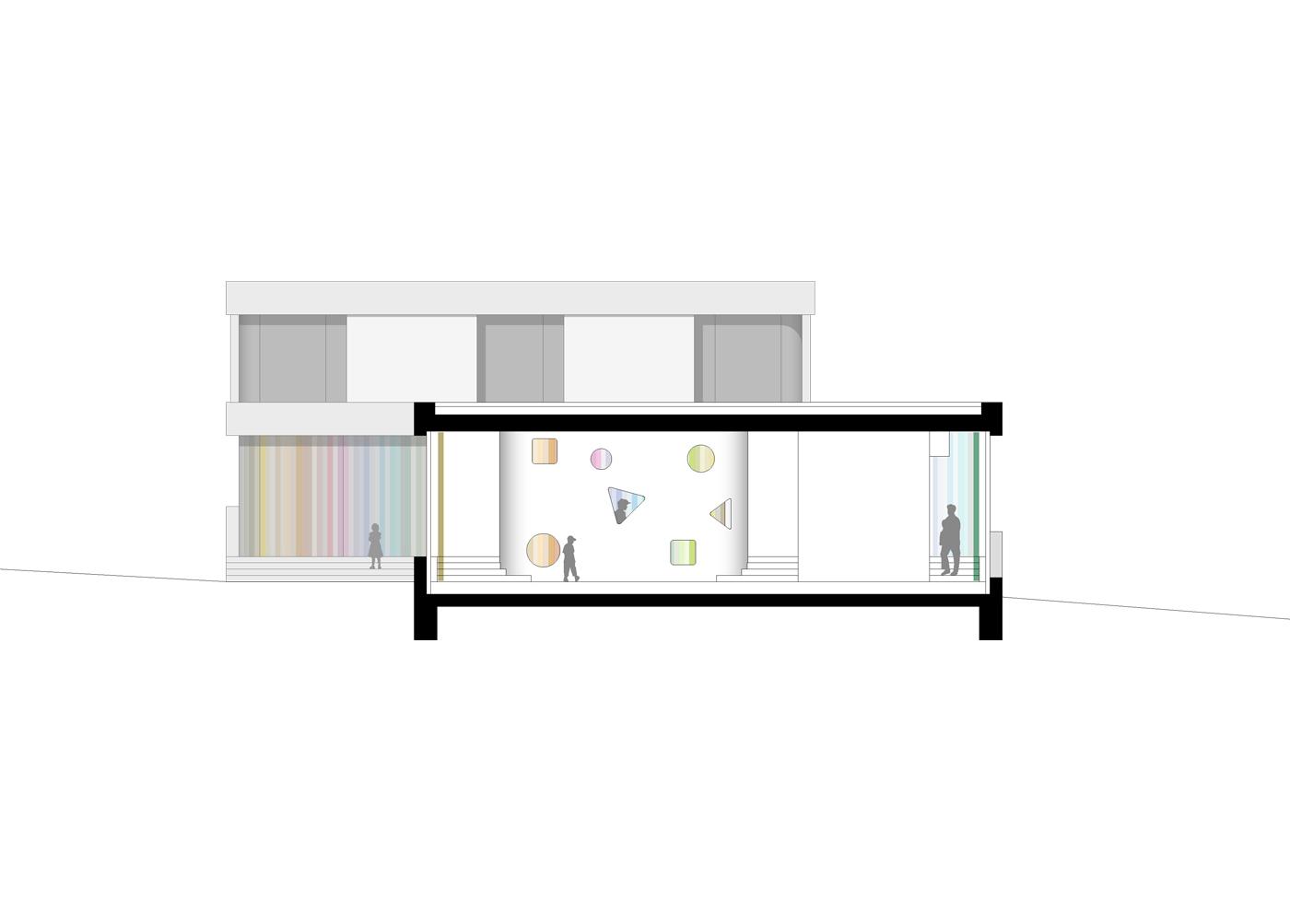 buan architekten – Schulanlage Erlen Emmenbrücke – Neubau Schnitt