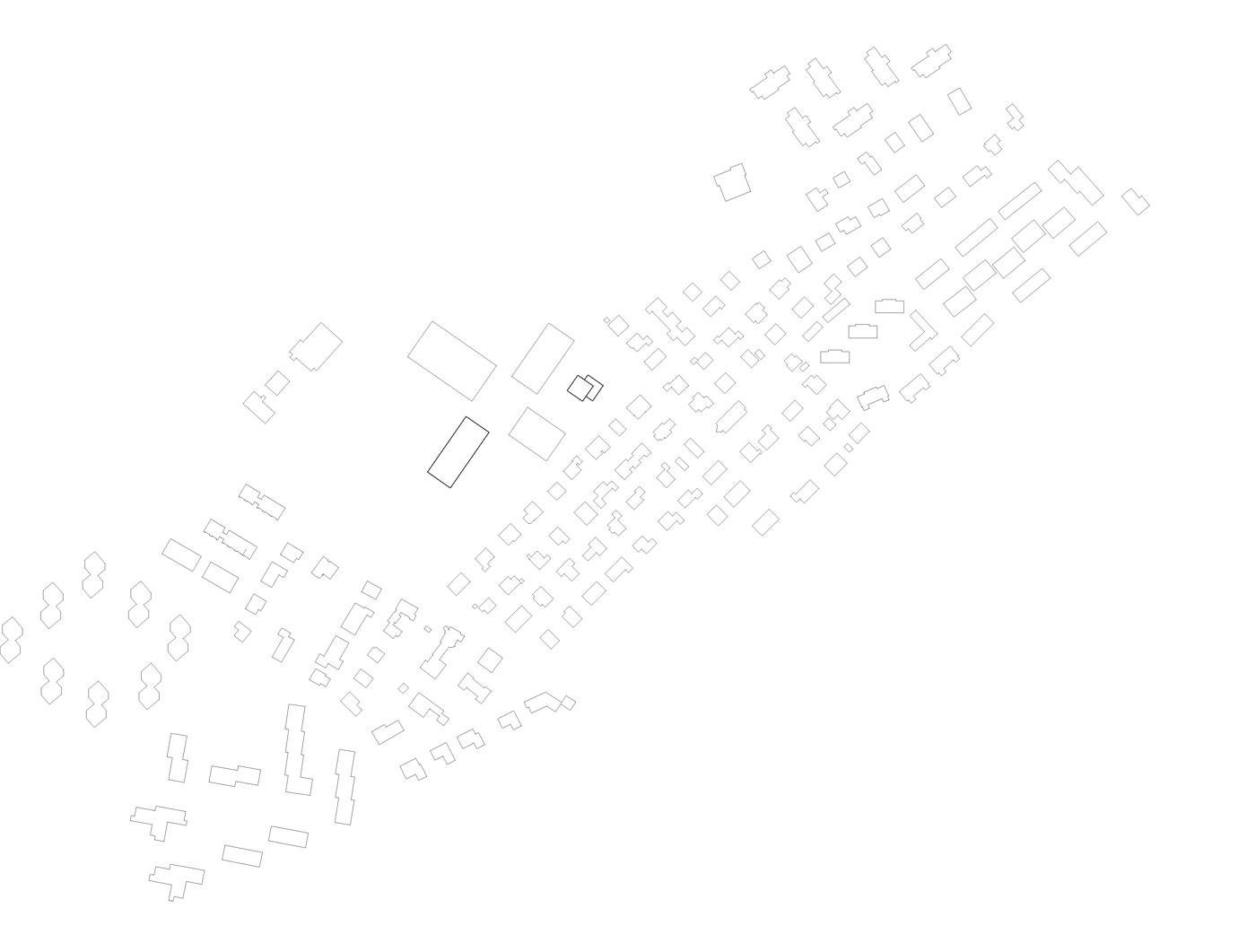 buan architekten – Schulanlage Erlen Emmenbrücke – Schwarzplan