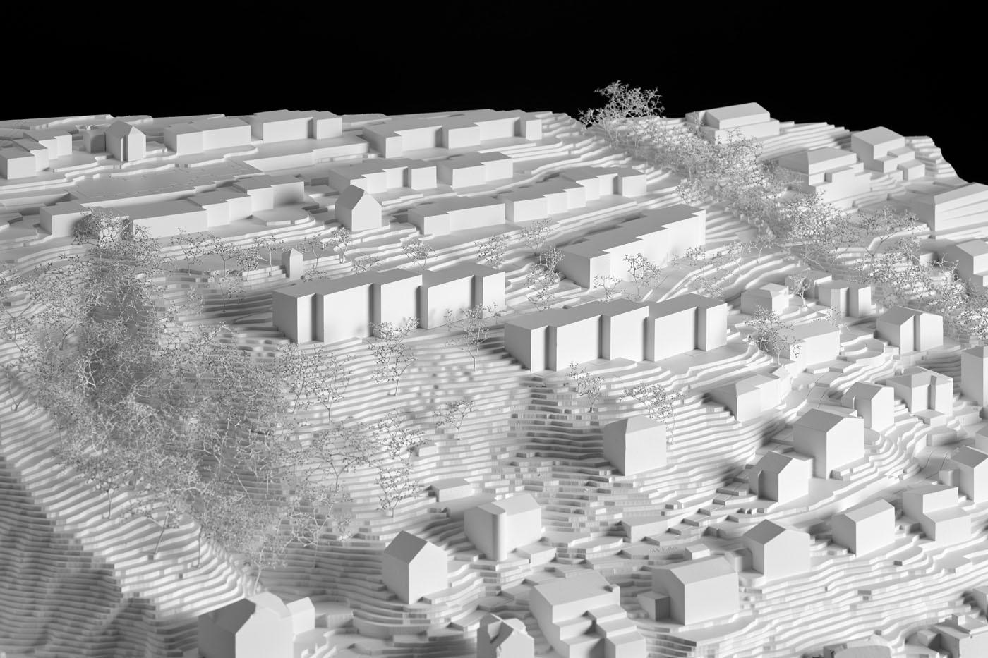 buan architekten – Projektwettbewerb Weinhalde Kriens – Modell