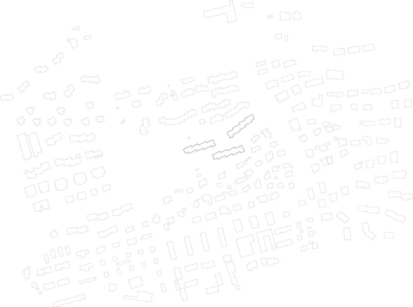buan architekten – Projektwettbewerb Weinhalde Kriens – Schwarzplan