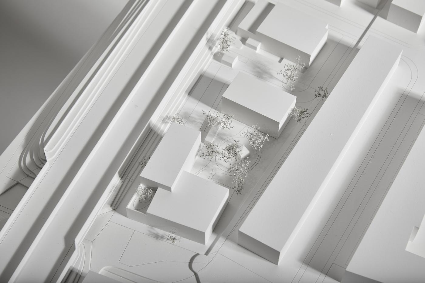 buan architekten – Studienauftrag Wohnheim Lindenfeld Emmen – Modellfoto 2
